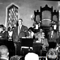E. B. speaking at Second Baptist Church