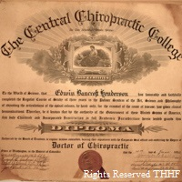 E. B. Henderson's chiropractic diploma